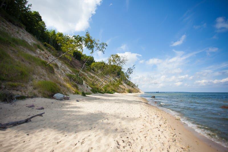 Ensam baltisk strand arkivfoton