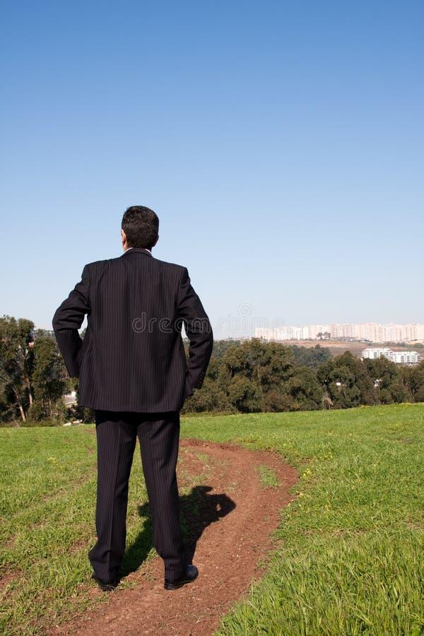 ensam fält arkivfoto