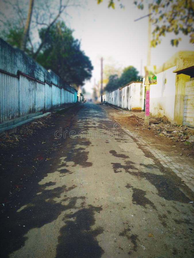 ensam gata fotografering för bildbyråer