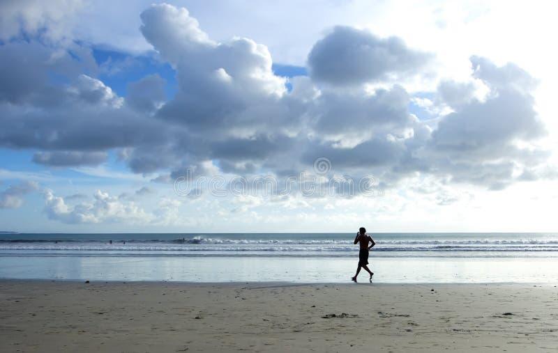 ensam löpare arkivfoton