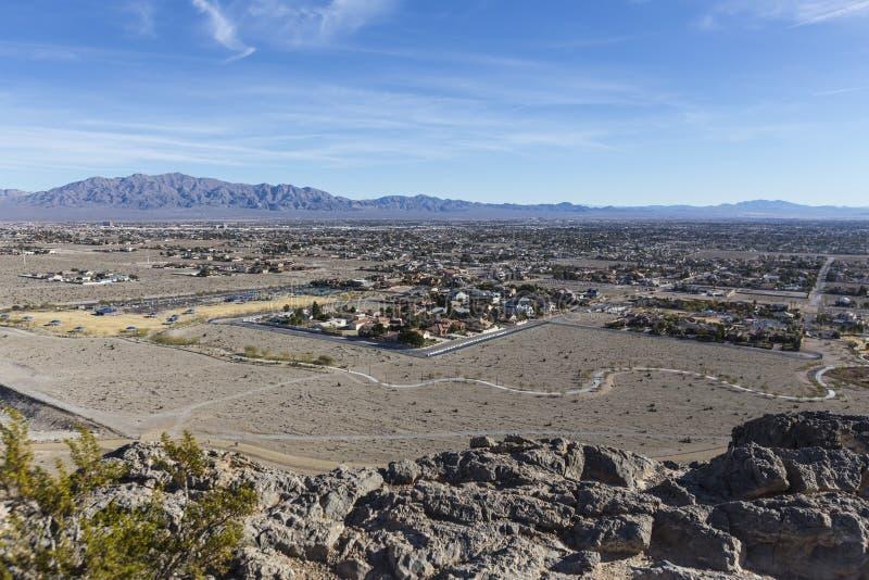 Ensam Mountain View Las Vegas dal royaltyfria foton