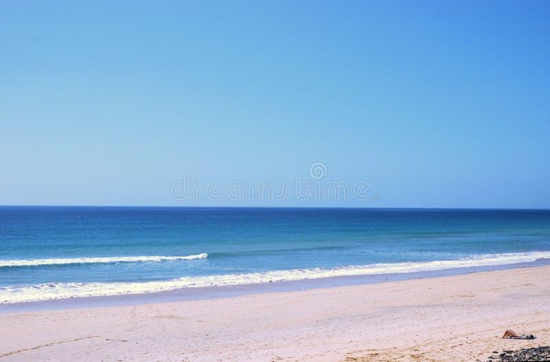 ensam strand arkivbilder