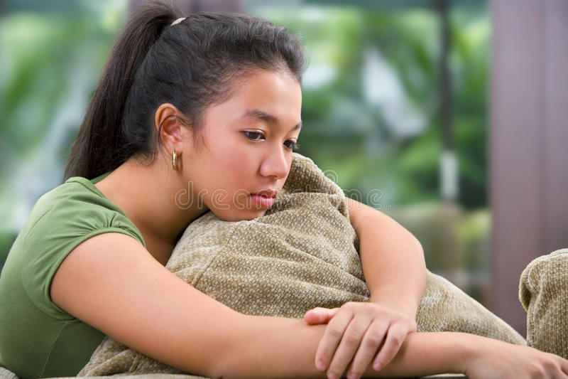 ensam tonåring för kvinnlig royaltyfri foto