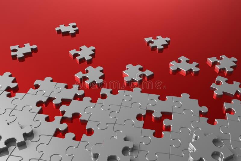 Ensamblaje del rompecabezas ilustración del vector