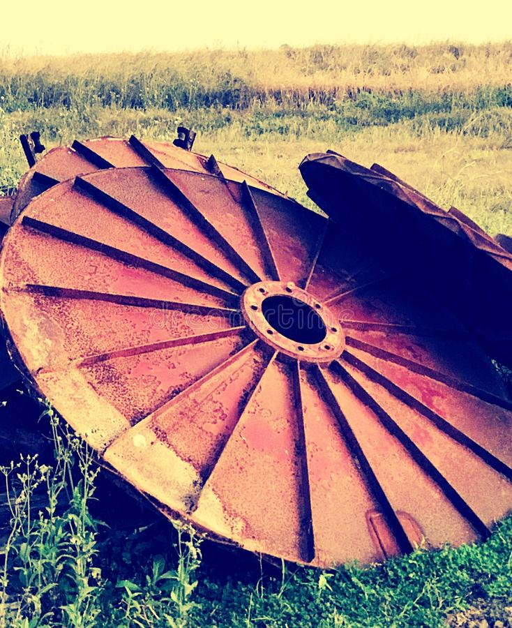 Ensamma hjul arkivbilder