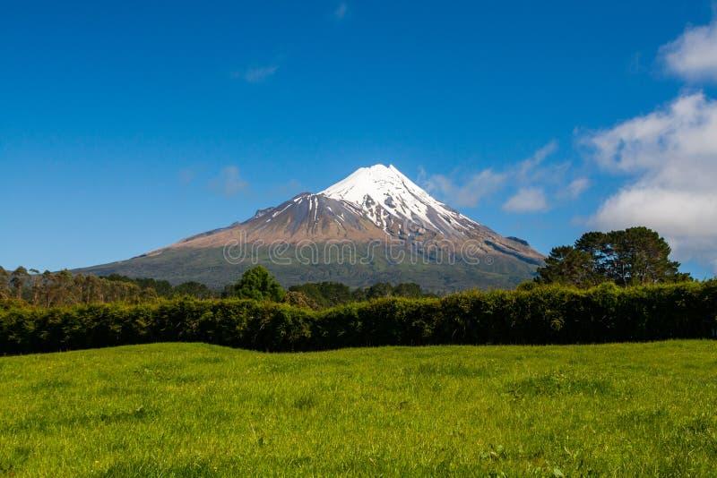 Ensamt berg - Taranaki (monteringen Egmont) royaltyfri bild