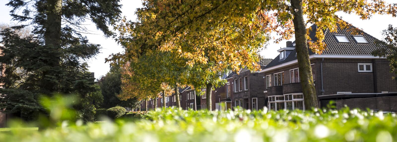 Enschede-Stadt in den Niederlanden lizenzfreie stockbilder