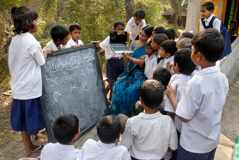 Enseñanza en la India foto de archivo