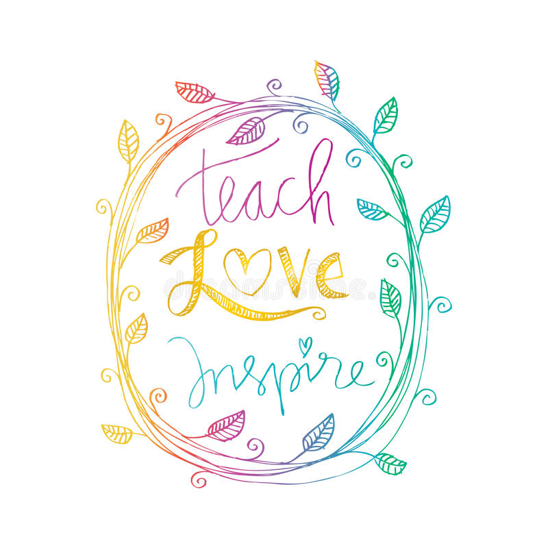 Enseñe al amor inspiran libre illustration