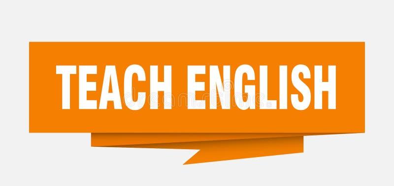 enseñe al inglés ilustración del vector