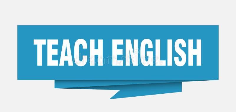 enseñe al inglés stock de ilustración