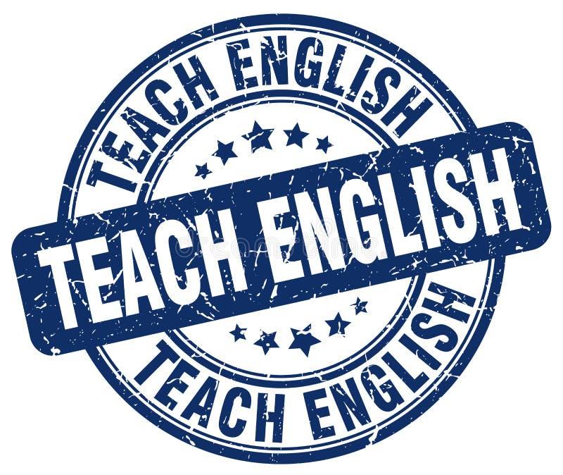 enseñe al sello azul inglés ilustración del vector