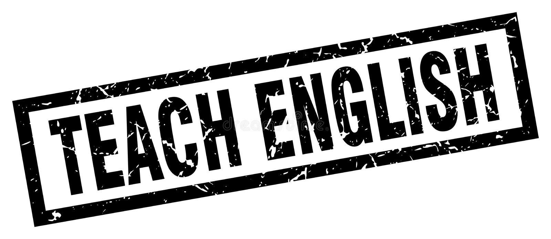 Enseñe al sello del inglés libre illustration