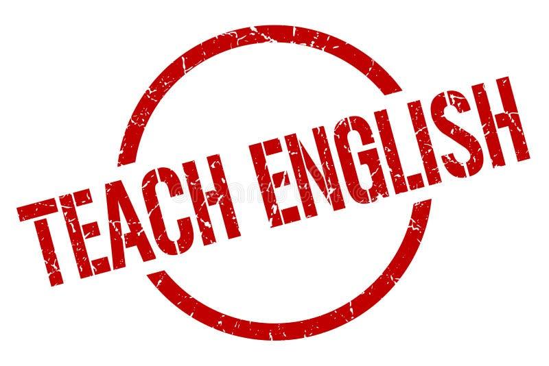 Enseñe al sello del inglés stock de ilustración
