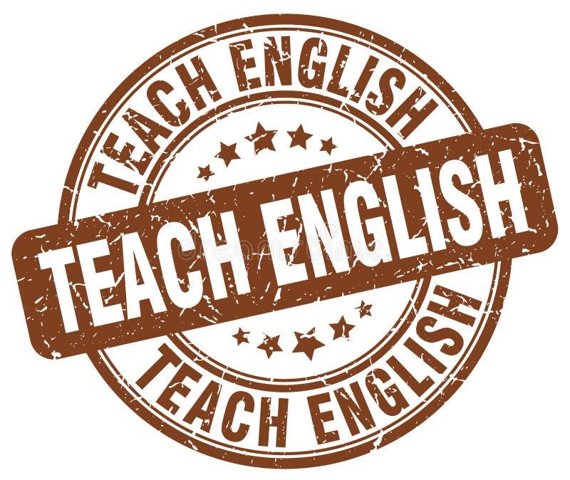 enseñe al sello marrón inglés libre illustration