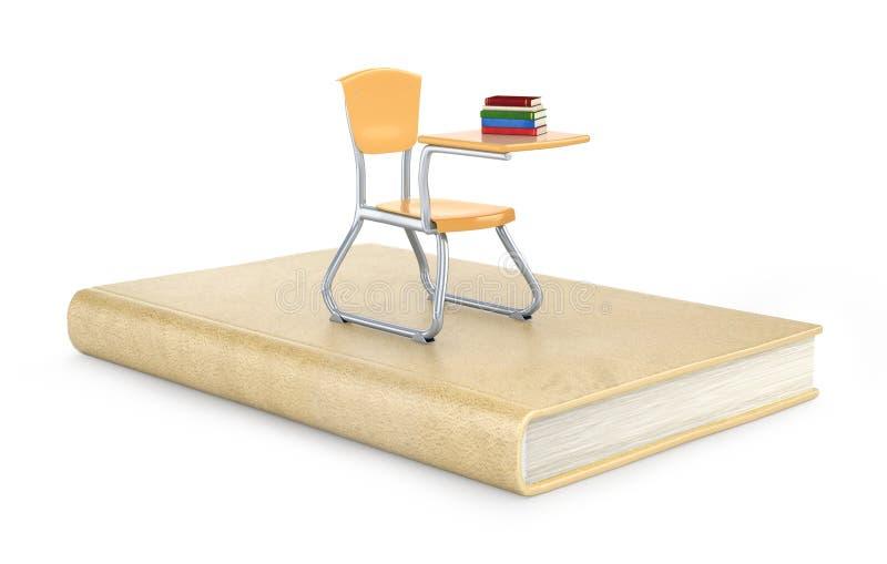 Enseñe la silla en el libro, ejemplo 3d libre illustration