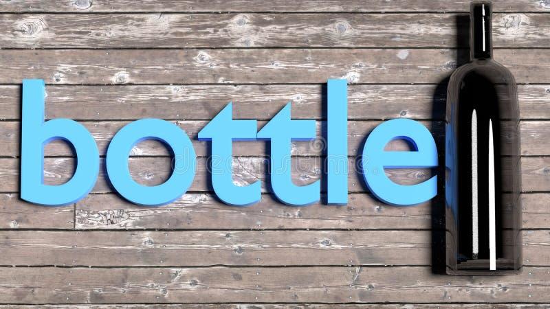 Enseñe a las tarjetas inglesas de la palabra del vocabulario para los niños y los adultos - sola palabra con un objeto correspond ilustración del vector