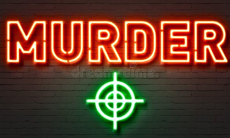 Enseigne au néon de meurtre images libres de droits