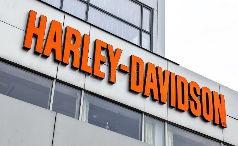 Enseigne de Harley-Davidson Inc images libres de droits