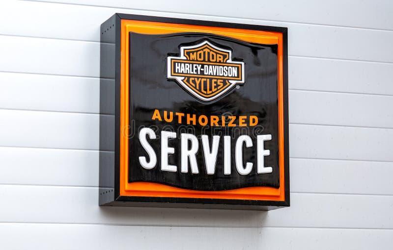 Enseigne de Harley-Davidson Inc image libre de droits