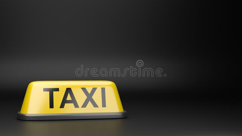 Enseigne de toit de taxi avec Copyspace illustration libre de droits
