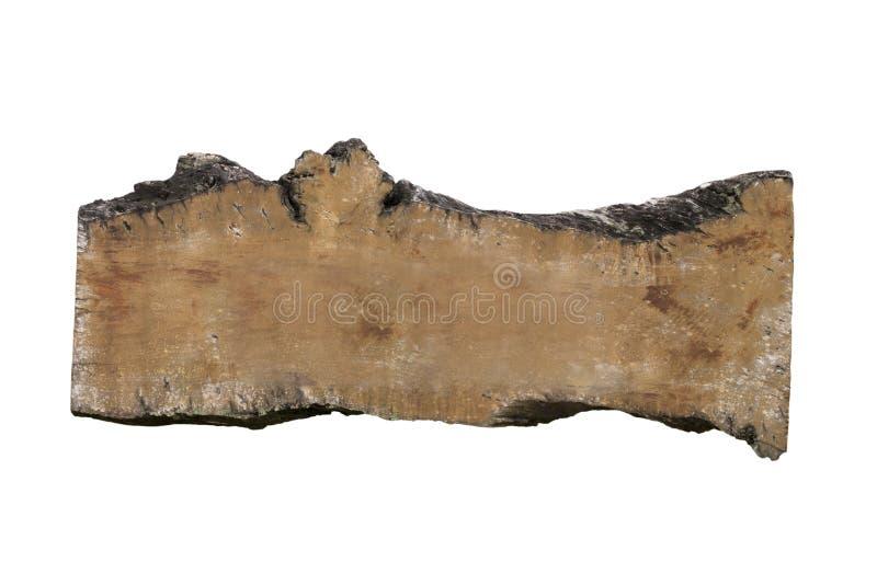 Enseigne en bois avec l'espace vide d'isolement sur le fond blanc photos libres de droits