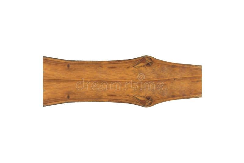 Enseigne en bois avec l'espace vide d'isolement sur le fond blanc photo stock