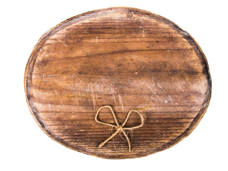 Enseigne et arc en bois image stock