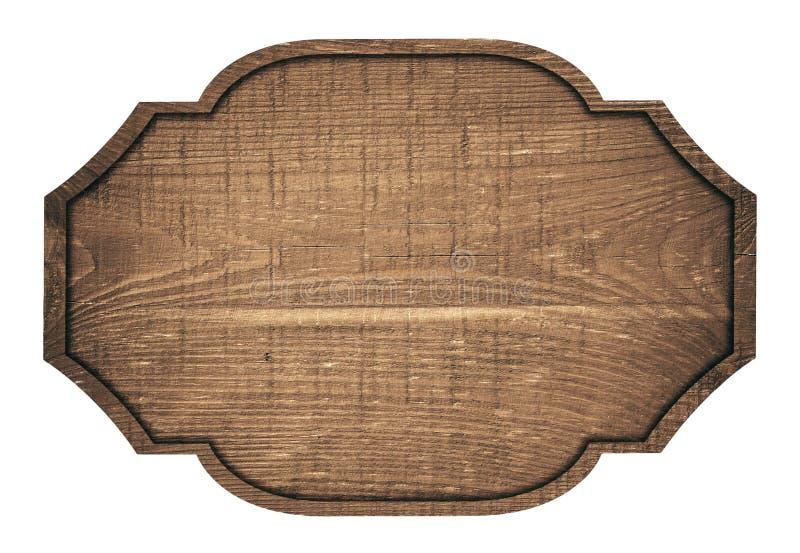 Enseigne, plat, planche et obscurité en bois de Brown image libre de droits