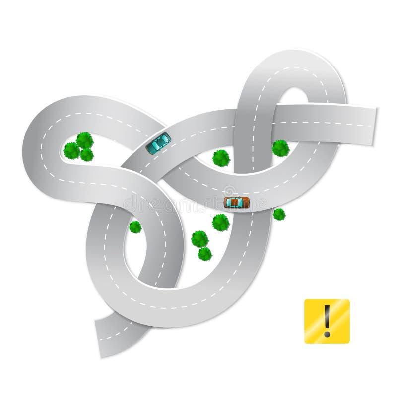 Enseignement de la conduite illustration de vecteur