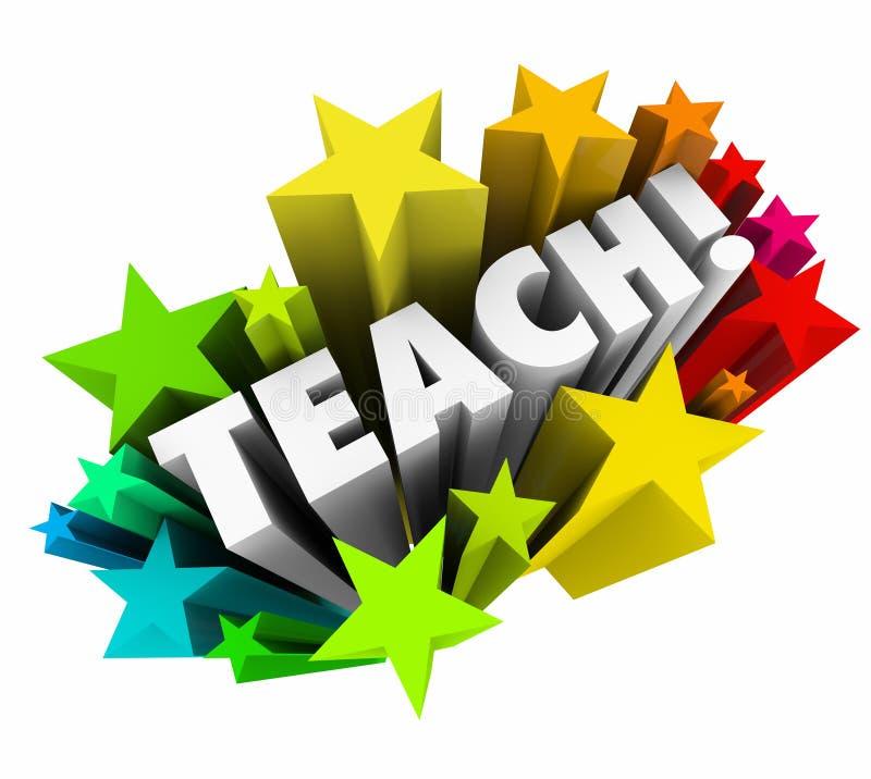 Enseignez les étoiles de Word apprenant professeur Tea d'université d'école d'éducation illustration de vecteur