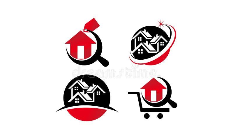 Ensemble à la maison de Real Estate illustration libre de droits