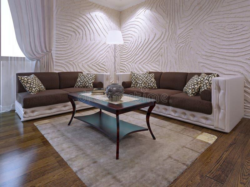 Ensemble élégant de meubles de salon photos libres de droits