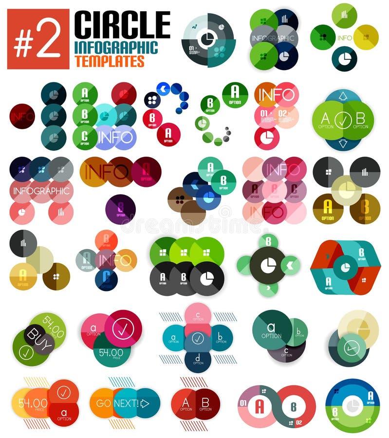 Ensemble énorme de calibres infographic #2 de cercle illustration de vecteur