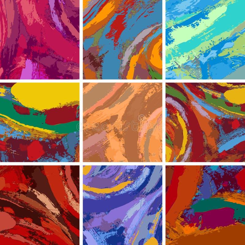 Ensemble abstrait de conception de fond de peinture illustration libre de droits