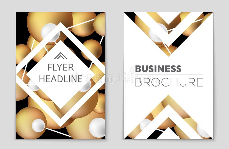 Ensemble abstrait de fond de disposition Pour la conception de calibre d'art, liste, frontpage, style de thème de brochure de maq illustration de vecteur
