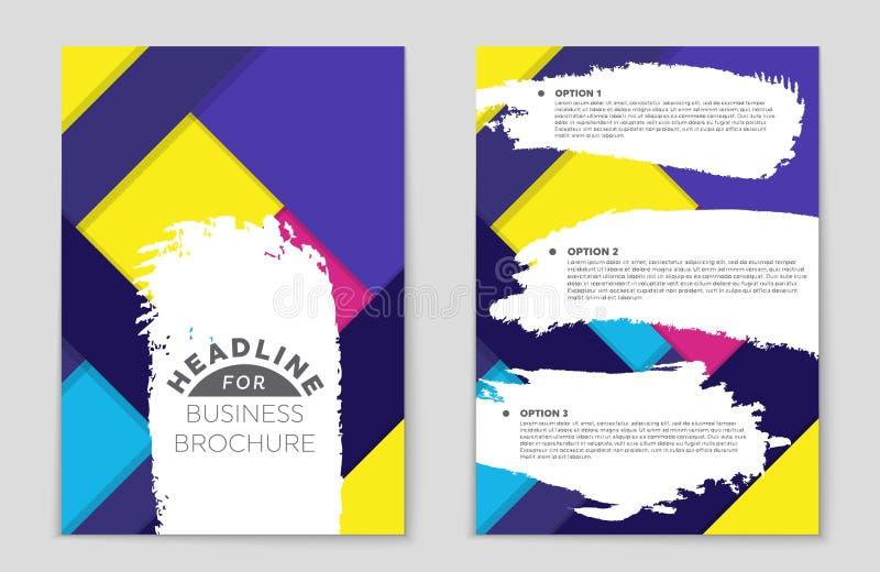 Ensemble abstrait de fond de disposition Pour la conception de calibre d'art, liste, frontpage, style de thème de brochure de maq illustration stock