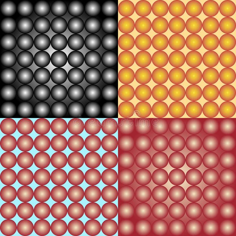 Ensemble abstrait de fond de sphères illustration de vecteur