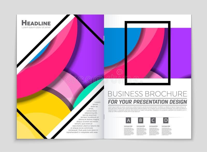 Ensemble abstrait de fond de disposition de vecteur Pour la conception de calibre d'art, liste, frontpage, style de thème de broc illustration libre de droits