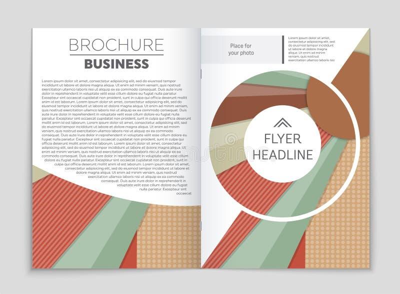Ensemble abstrait de fond de disposition de vecteur Pour la conception de calibre d'art, liste, frontpage, style de thème de broc illustration de vecteur