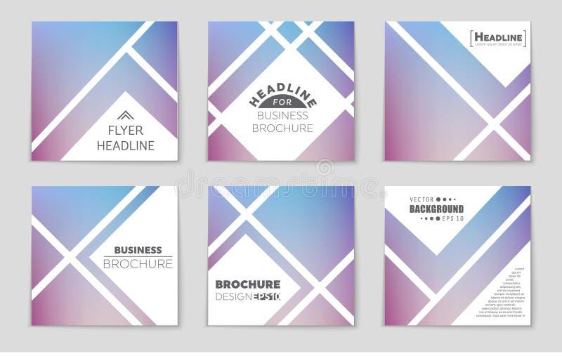 Ensemble abstrait de fond de disposition de vecteur Pour la conception de calibre d'art, liste, page, style de thème de brochure  illustration de vecteur