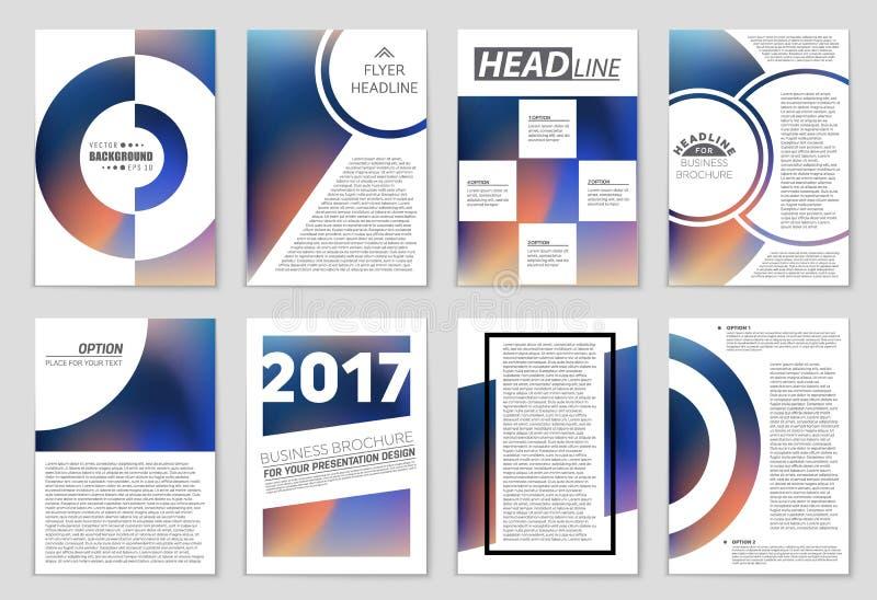 Ensemble abstrait de fond de disposition de vecteur Pour la conception de calibre d'art, liste, page, style de thème de brochure  illustration stock
