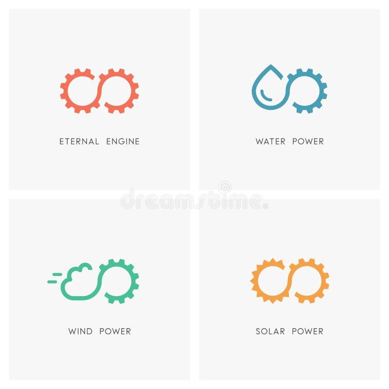 Ensemble alternatif de logo de source d'énergie illustration libre de droits