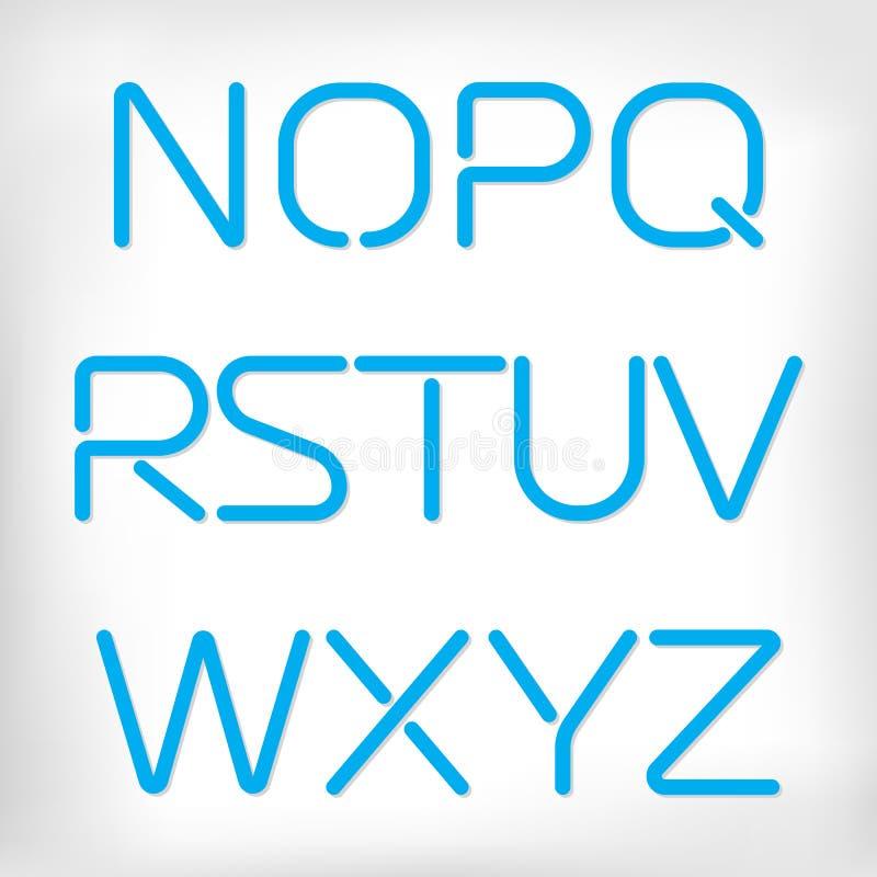 Ensemble arrondi minimal moderne d'alphabet de police illustration libre de droits