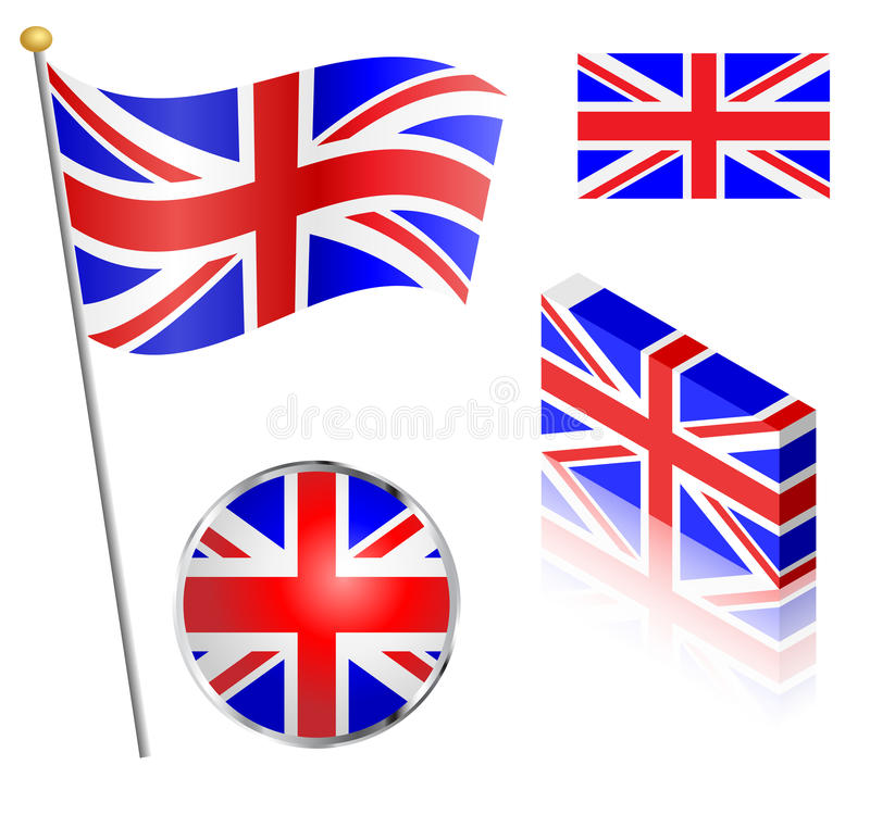 Ensemble BRITANNIQUE de drapeau illustration stock