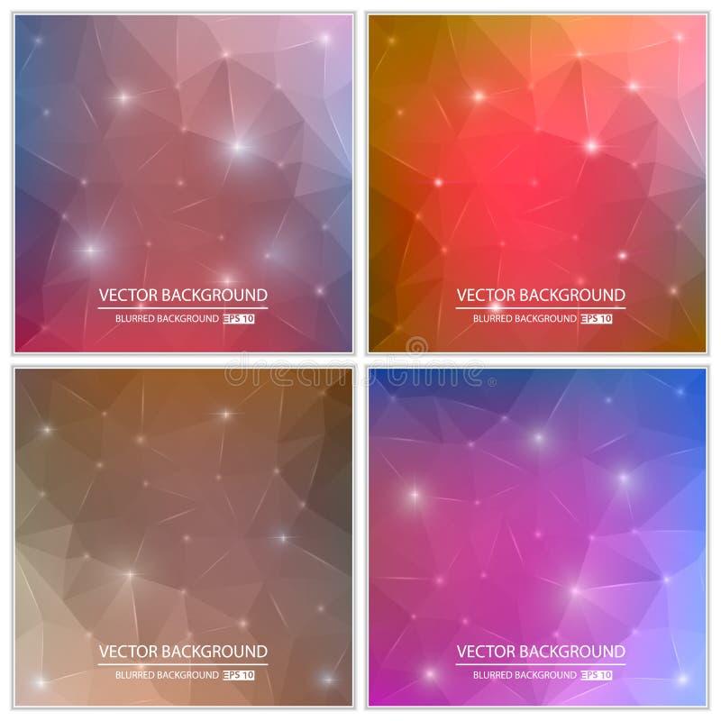 Ensemble brouillé multicolore de fond de vecteur créatif abstrait de concept Pour le Web et les applications mobiles, illustratio illustration de vecteur