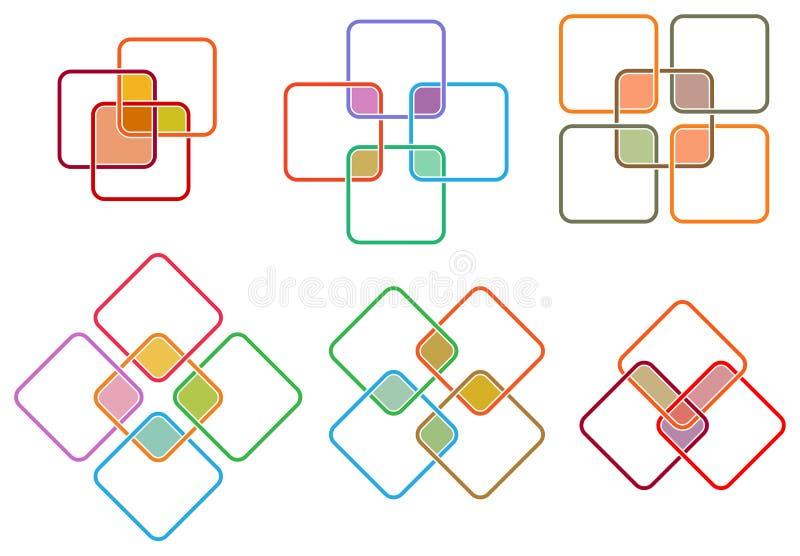 Ensemble carré de logo illustration libre de droits