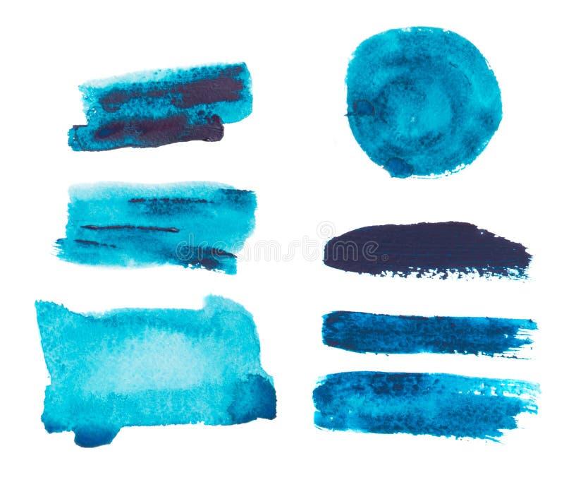 Ensemble coloré d'aquarelle images stock