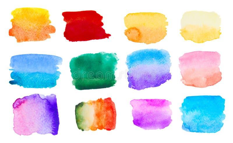 Ensemble coloré d'aquarelle image stock