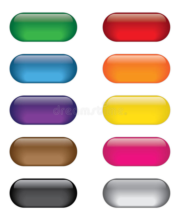 Ensemble coloré de bouton d'icône de Web illustration stock